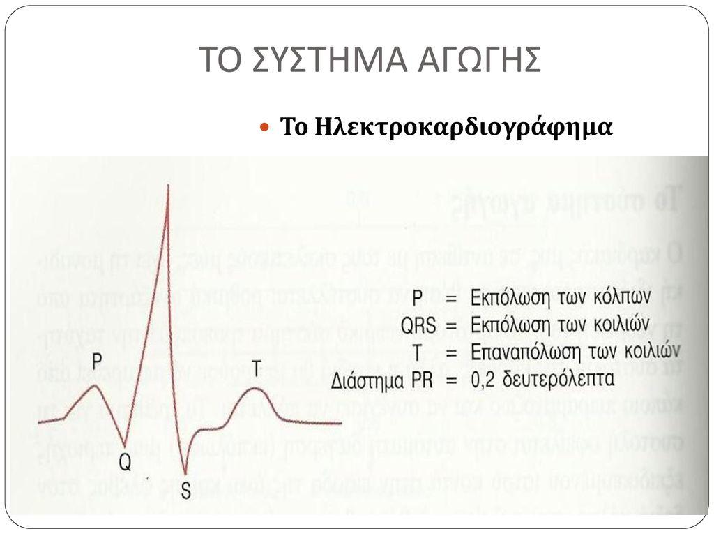 ΤΟ ΣΥΣΤΗΜΑ ΑΓΩΓΗΣ Το Ηλεκτροκαρδιογράφημα