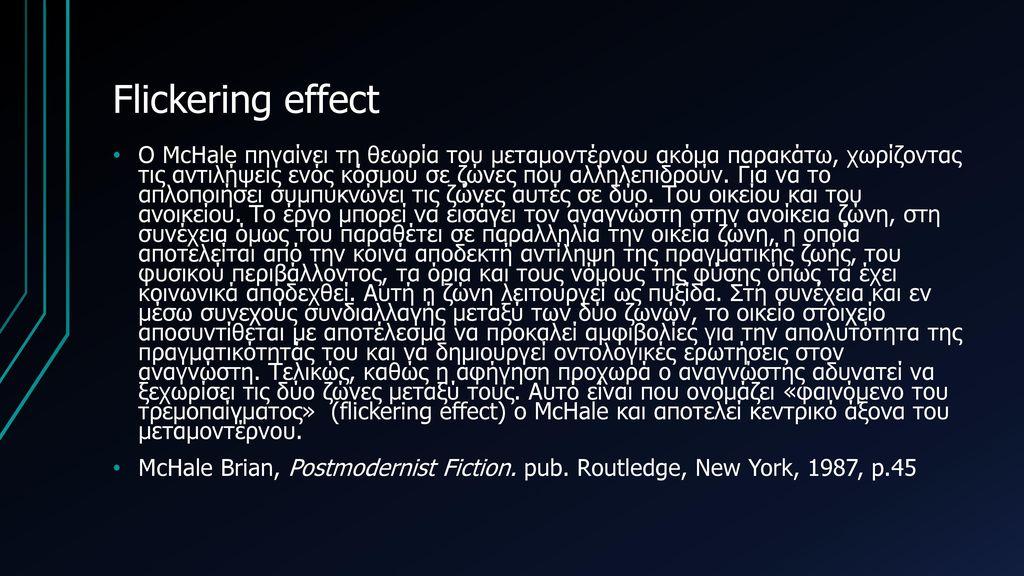 Flickering effect