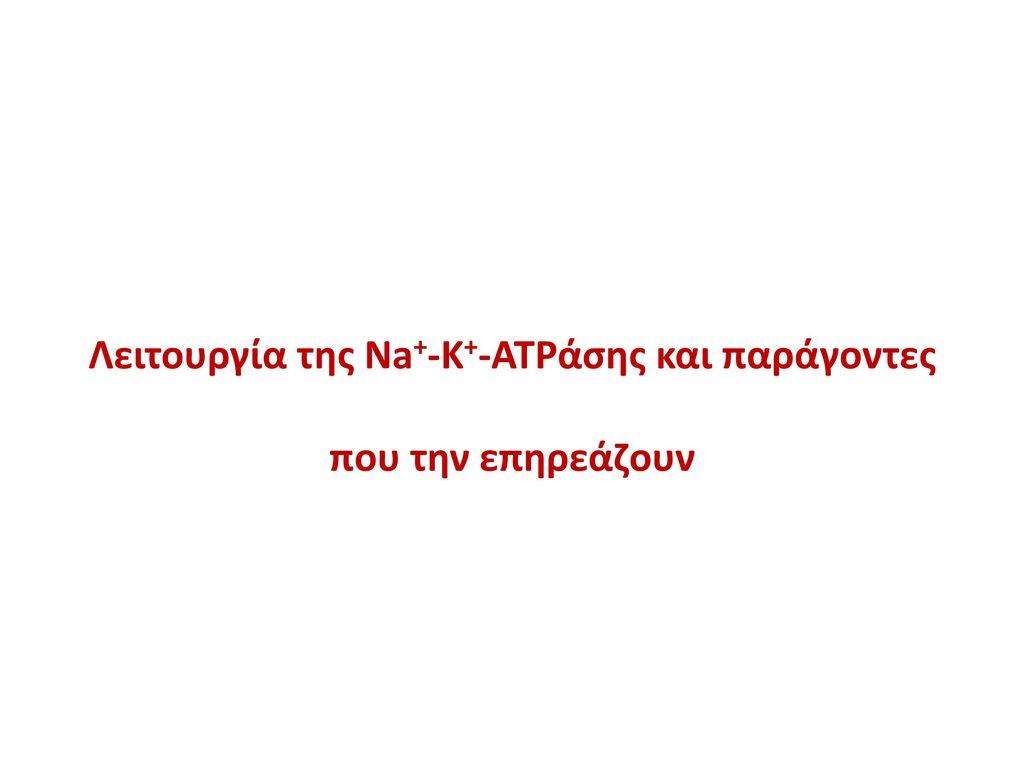 Λειτουργία της Na+-Κ+-ATPάσης και παράγοντες που την επηρεάζουν