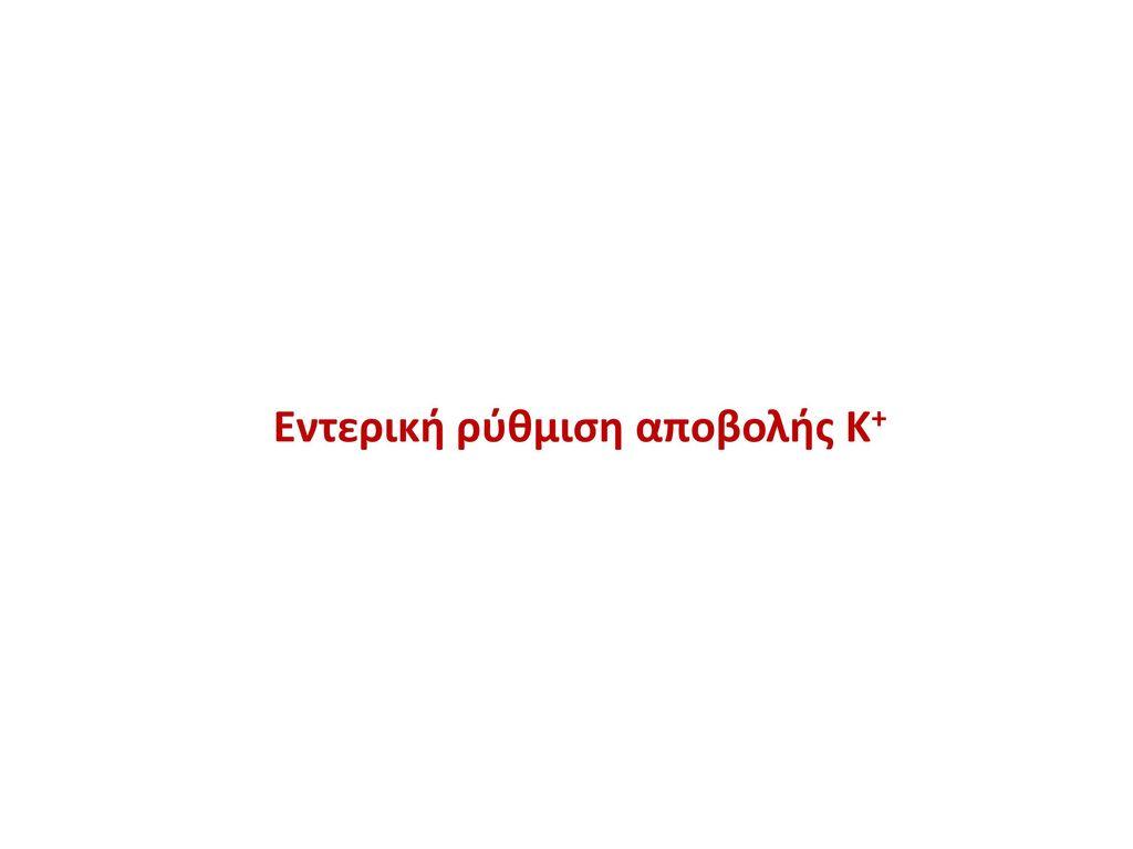 Εντερική ρύθμιση αποβολής Κ+