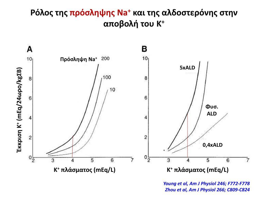 Ρόλος της πρόσληψης Na+ και της αλδοστερόνης στην αποβολή του Κ+