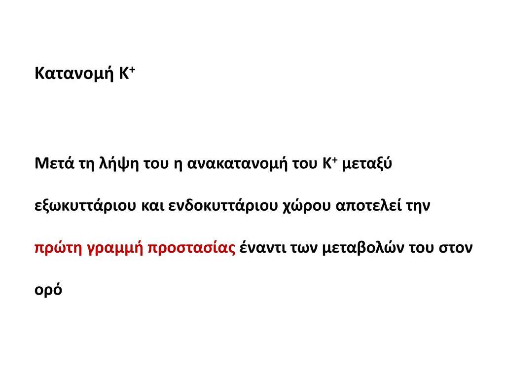 Κατανομή Κ+