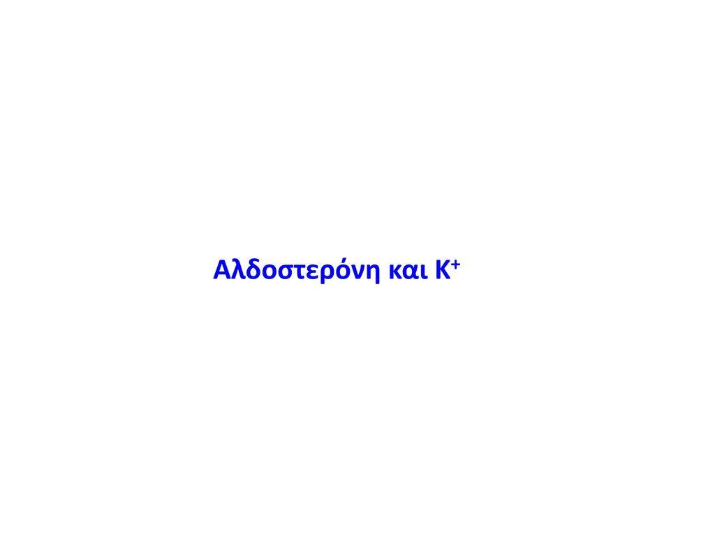 Αλδοστερόνη και Κ+