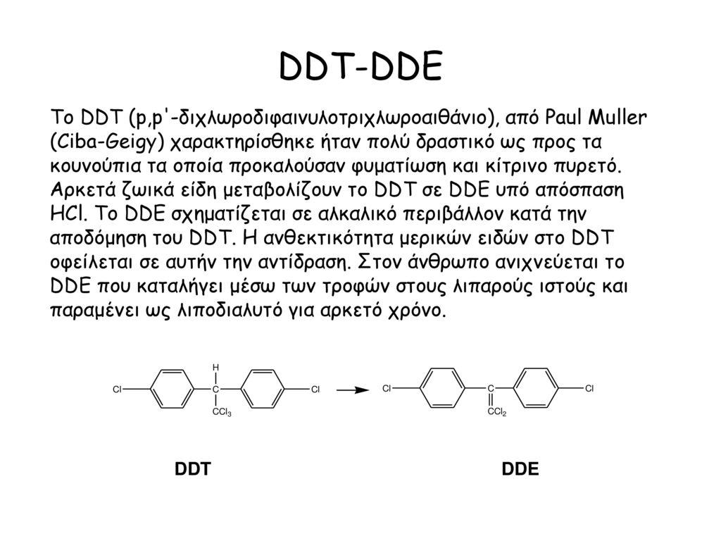 DDT-DDE To DDT (p,p -διχλωροδιφαινυλοτριχλωροαιθάνιο), από Paul Muller