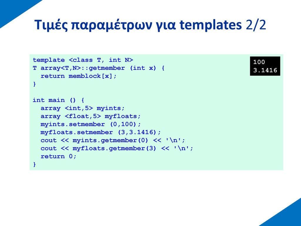 Παραδείγματα templates