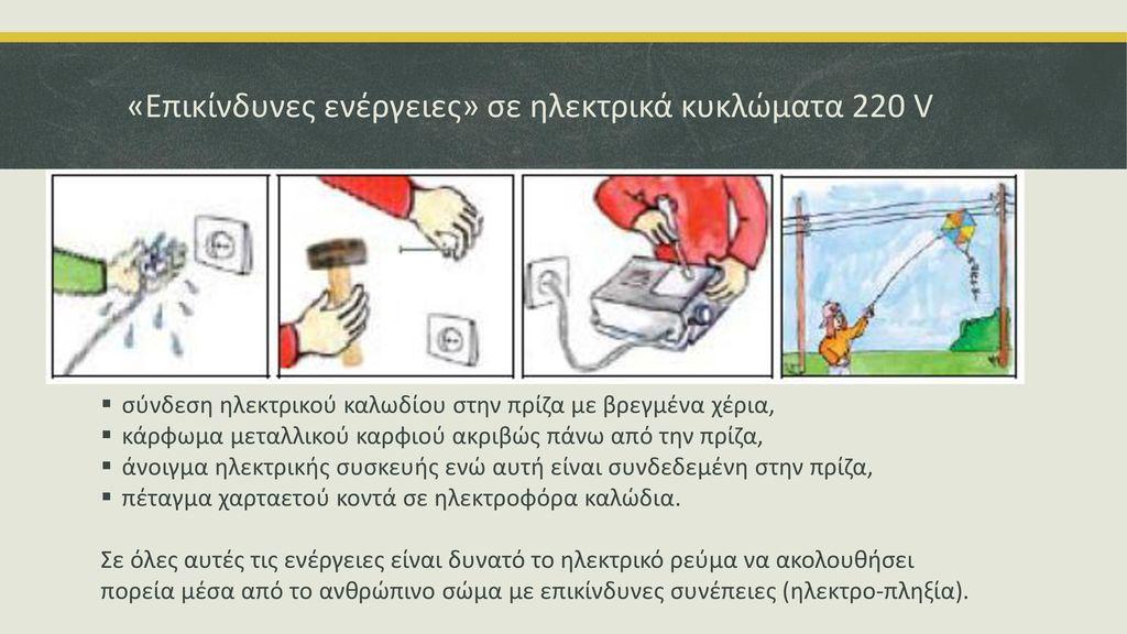 «Επικίνδυνες ενέργειες» σε ηλεκτρικά κυκλώματα 220 V
