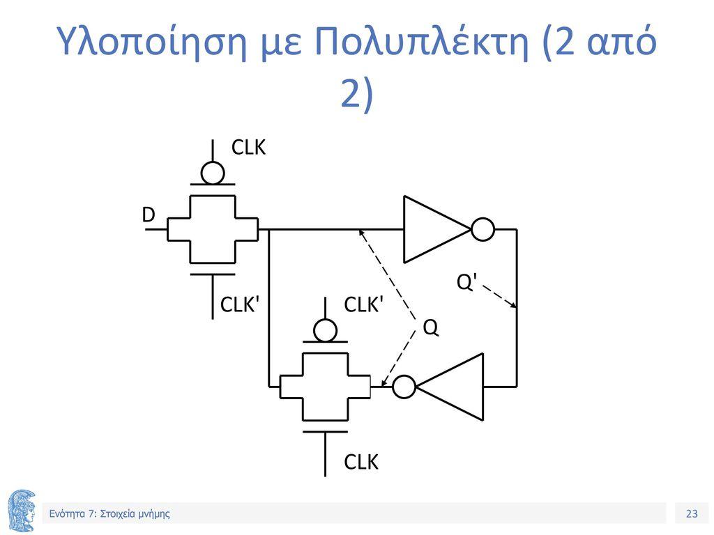 Υλοποίηση με Πολυπλέκτη (2 από 2)