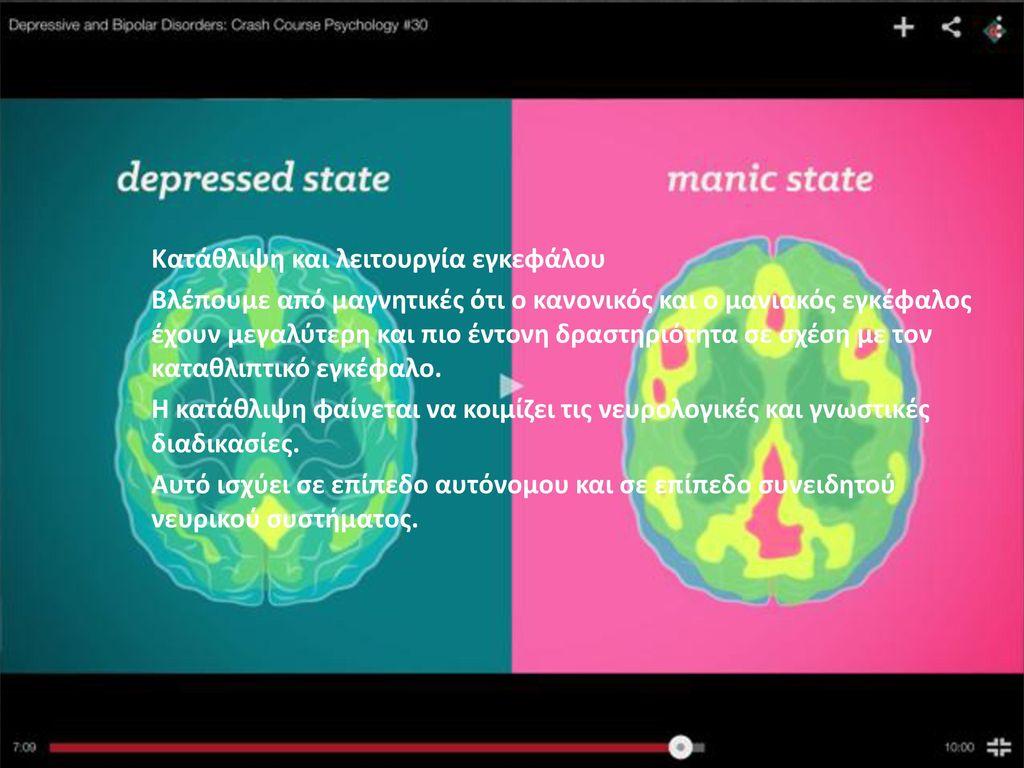 Κατάθλιψη και λειτουργία εγκεφάλου