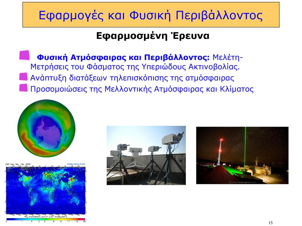 Εφαρμογές και Φυσική Περιβάλλοντος
