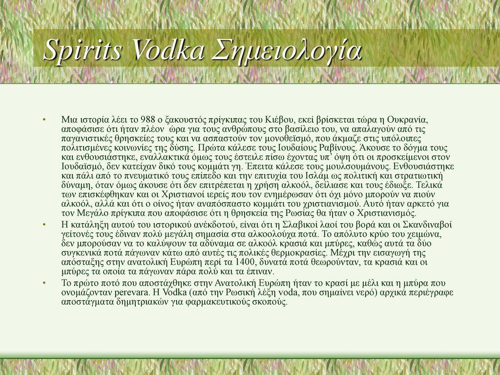 Spirits Vodka Σημειολογία
