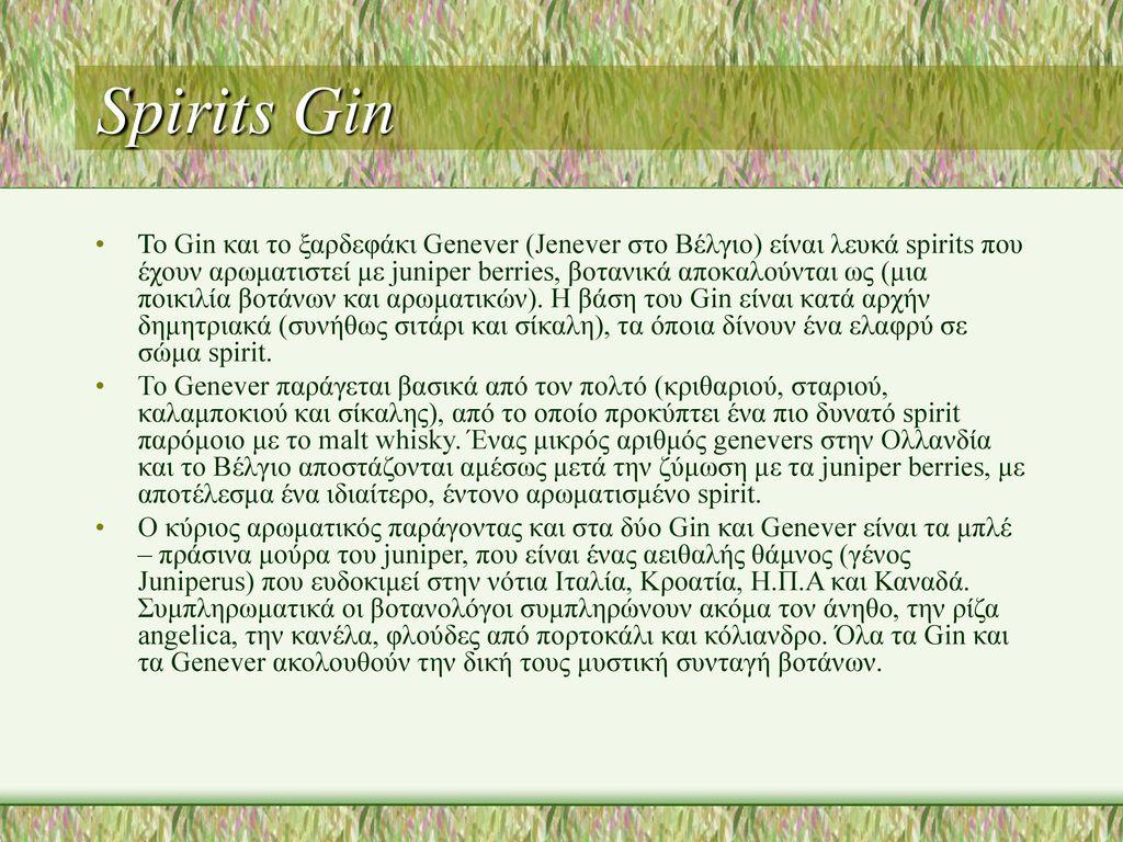 Spirits Gin
