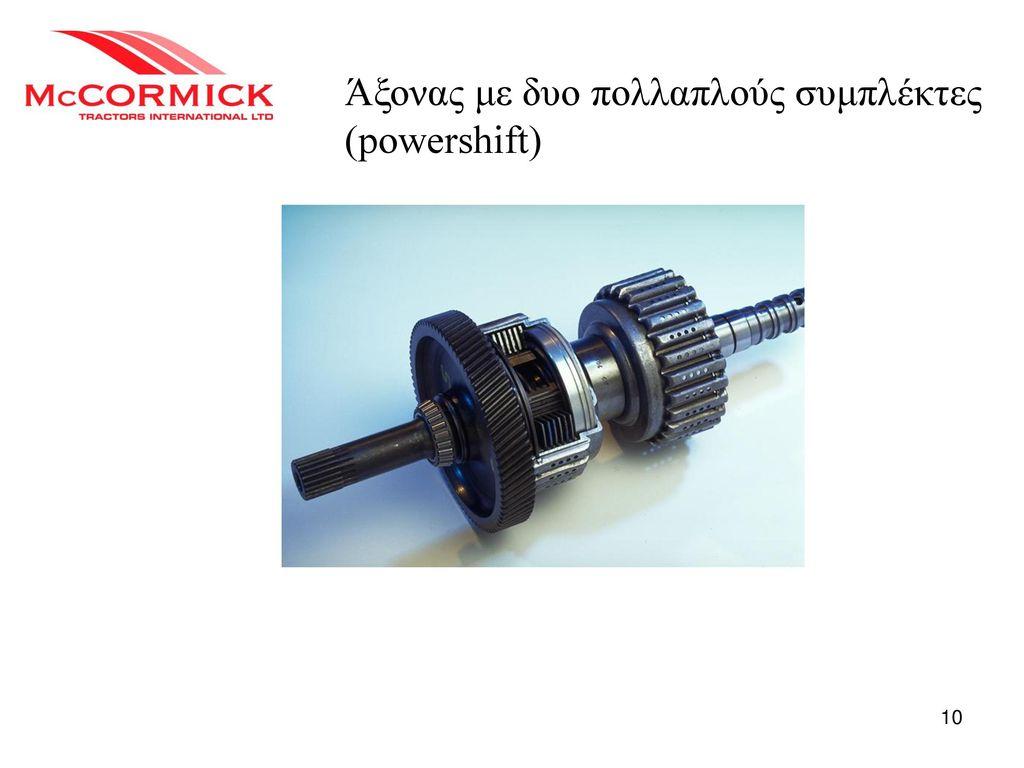 Άξονας με δυο πολλαπλούς συμπλέκτες (powershift)