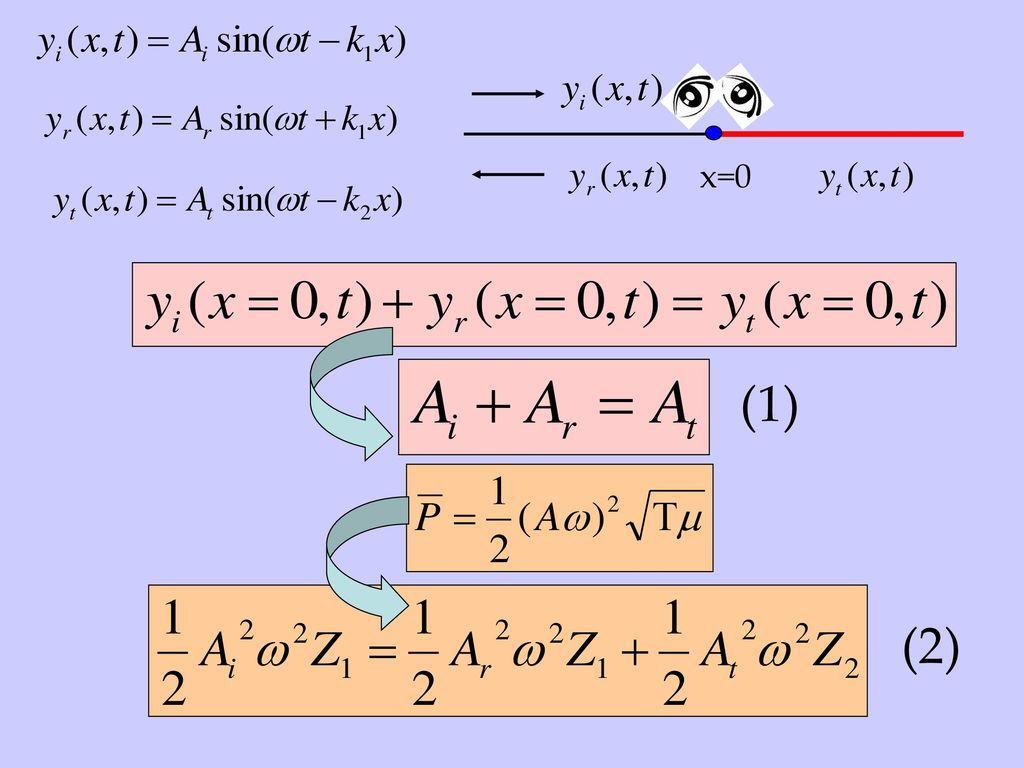 x=0 (1) (2)