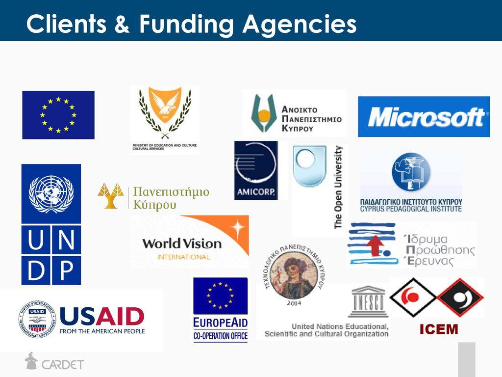 Clients & Funding Agencies