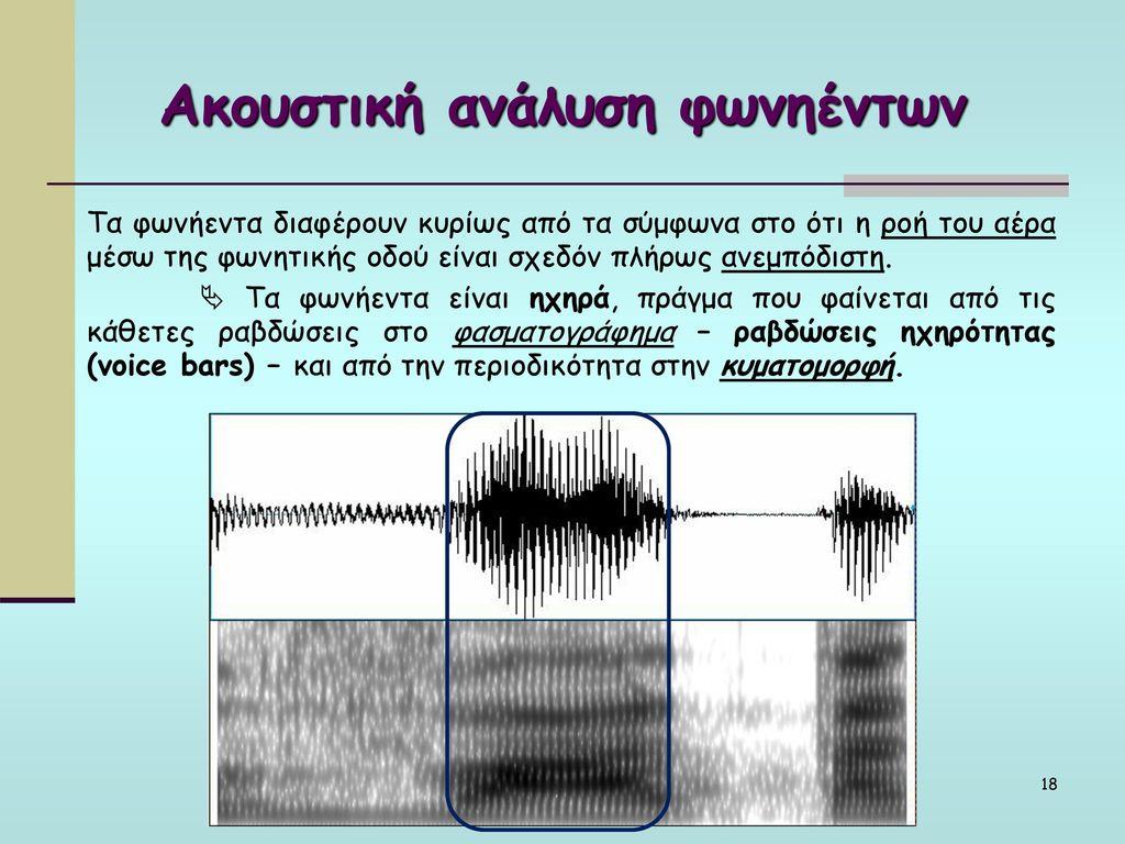 Ακουστική ανάλυση φωνηέντων