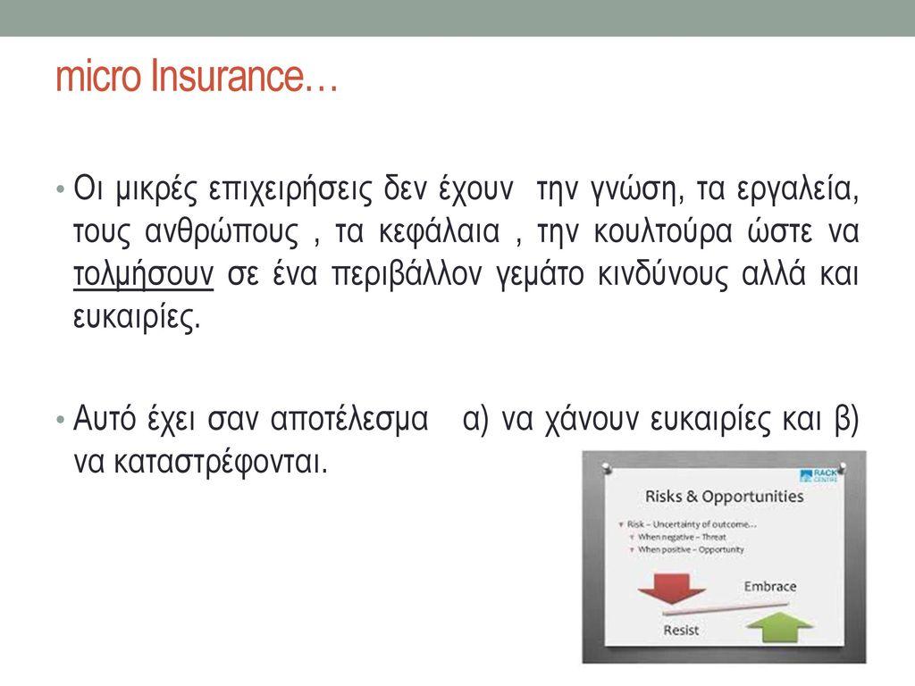 micro Insurance…