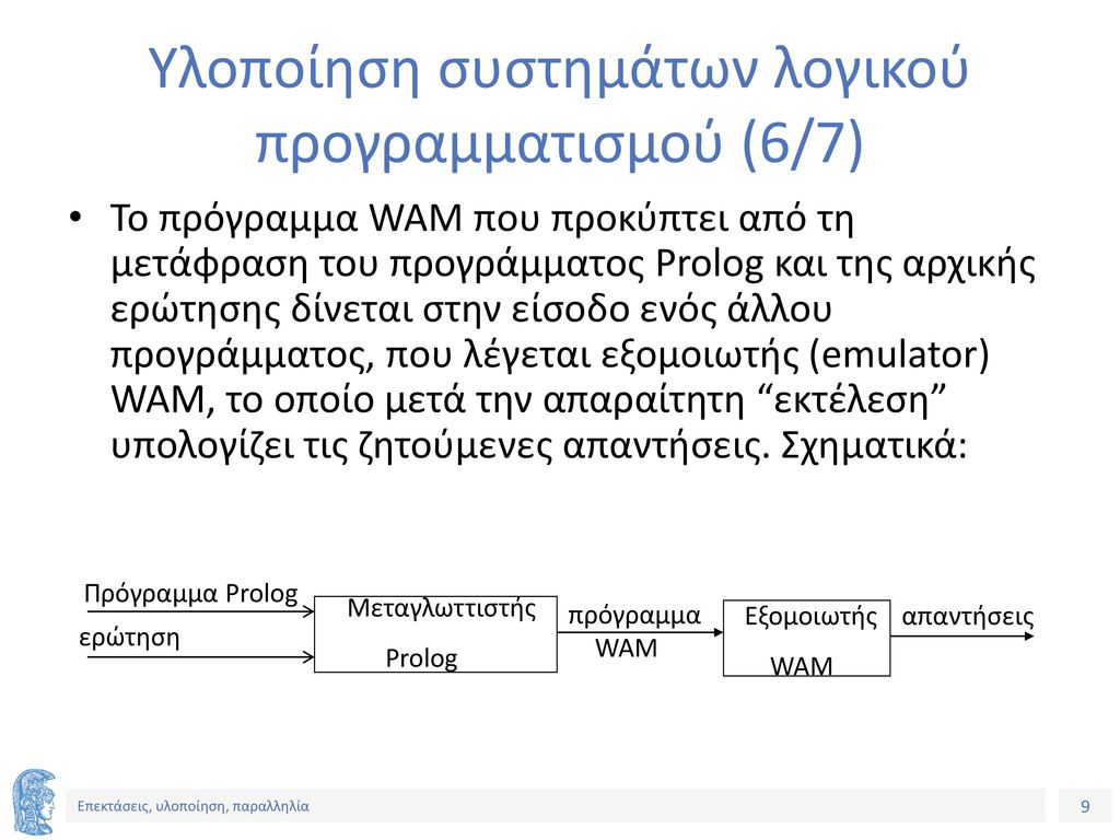 Υλοποίηση συστημάτων λογικού προγραμματισμού (6/7)