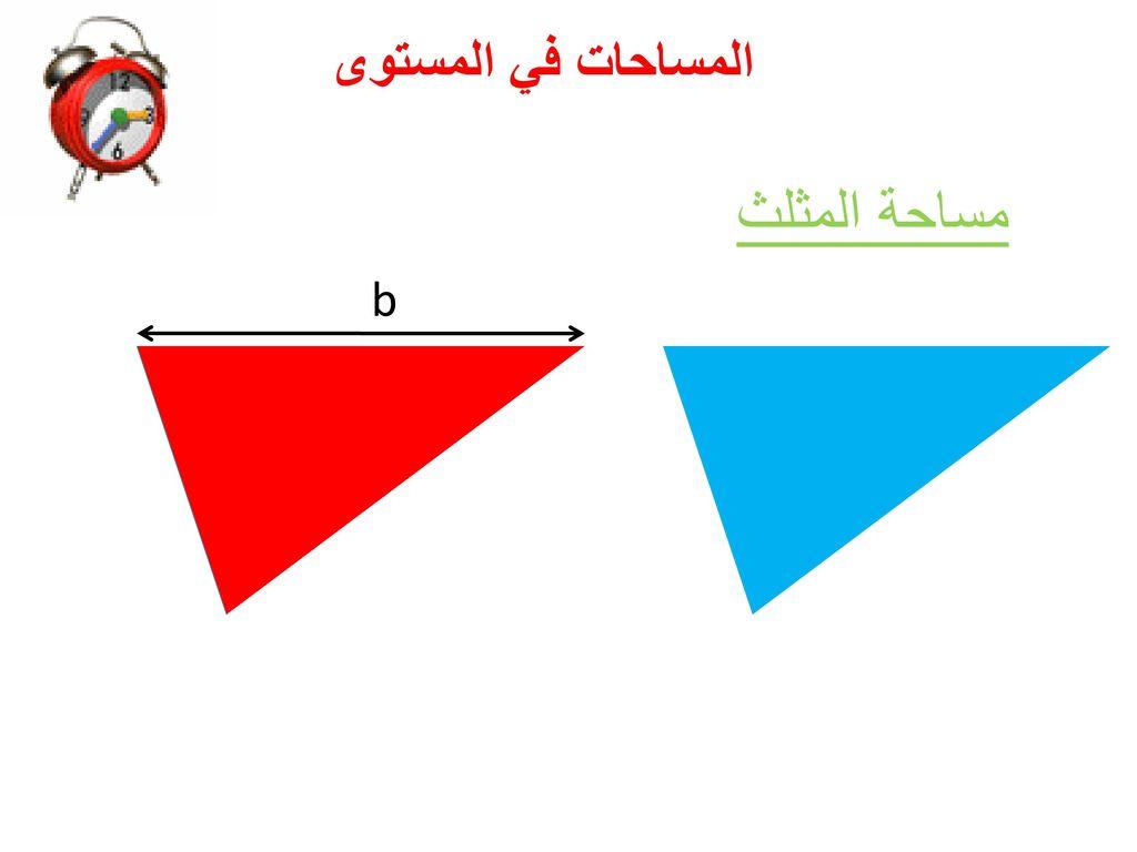 المساحات في المستوى مساحة المثلث b