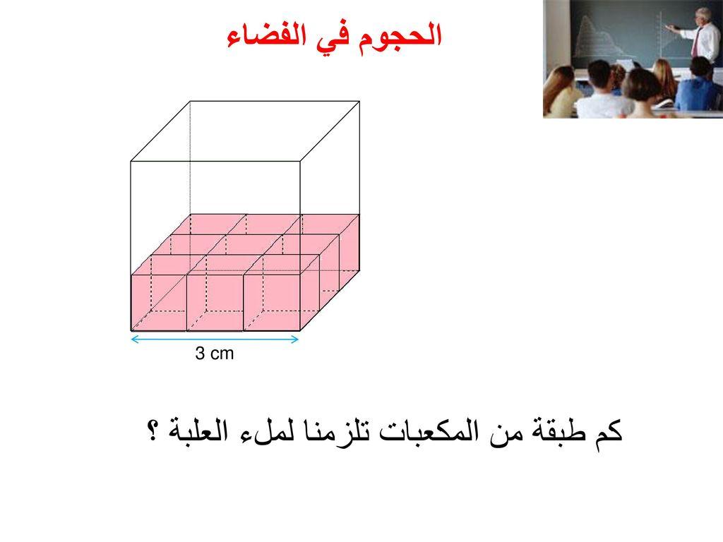 كم طبقة من المكعبات تلزمنا لملء العلبة ؟