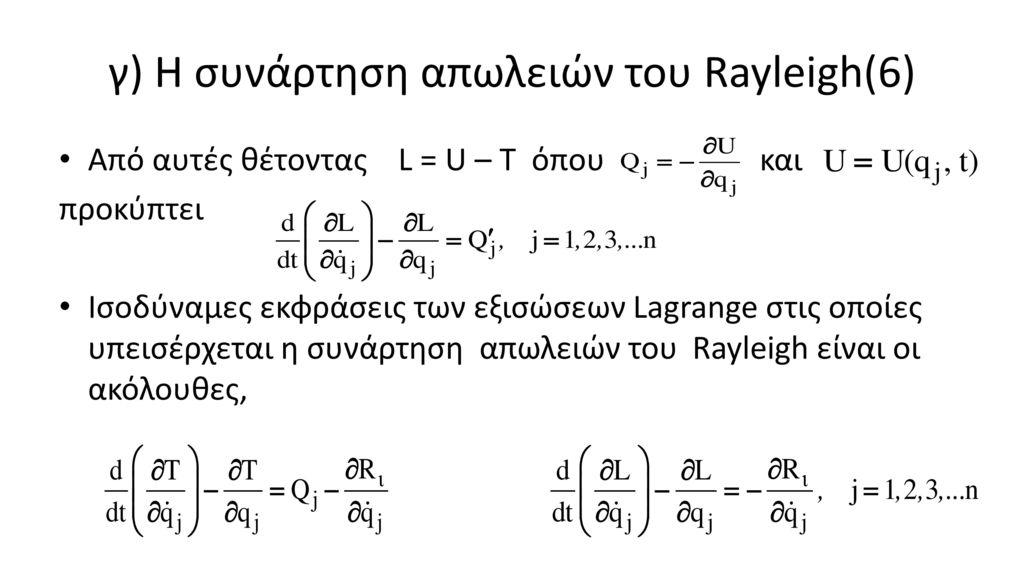 γ) Η συνάρτηση απωλειών του Rayleigh(6)