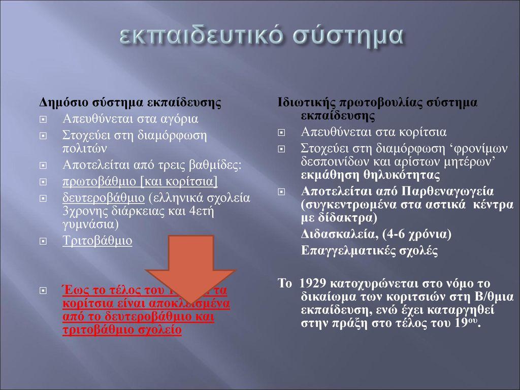 εκπαιδευτικό σύστημα Δημόσιο σύστημα εκπαίδευσης