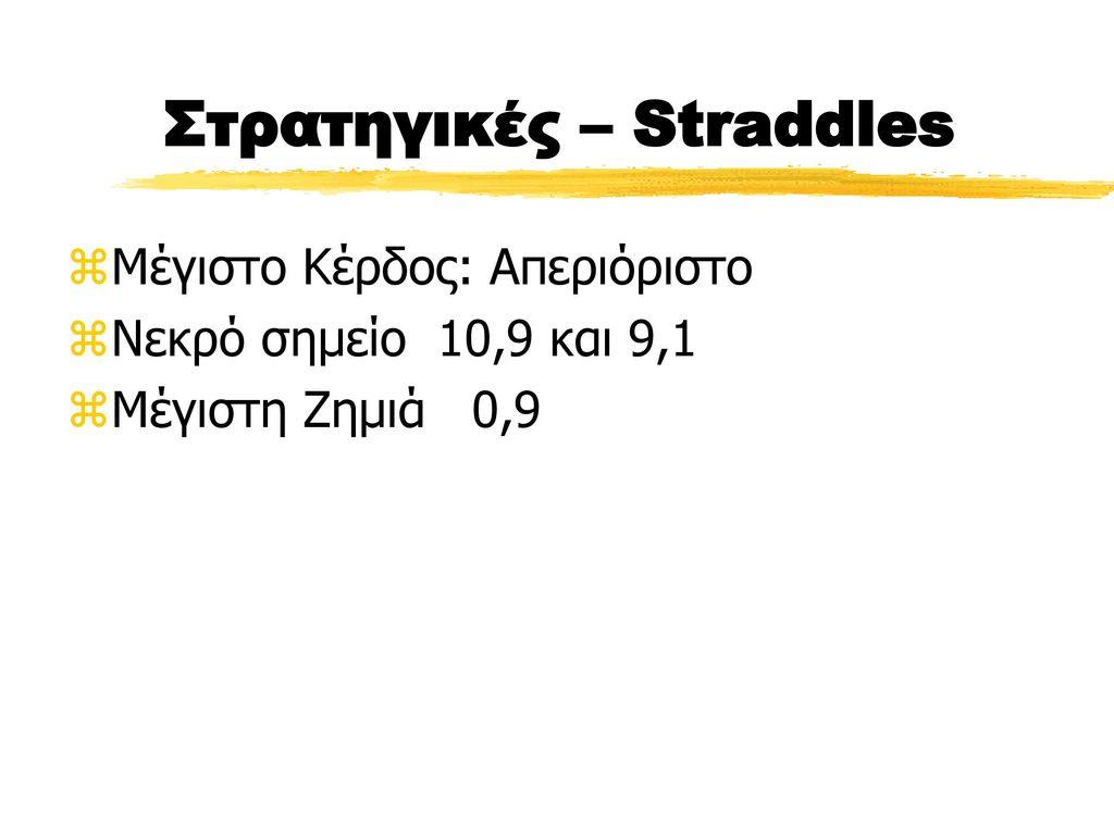 Στρατηγικές – Straddles