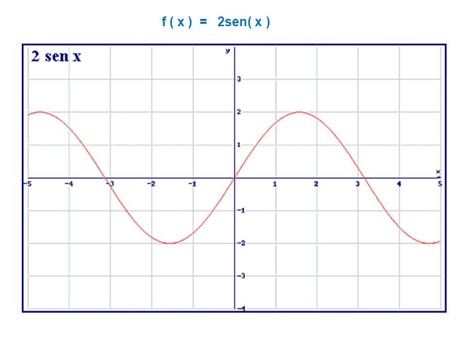 f ( x ) = 2sen( x )