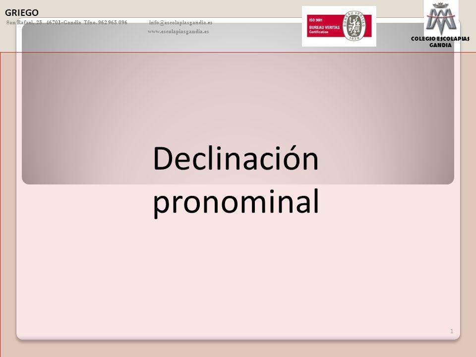 Declinación pronominal