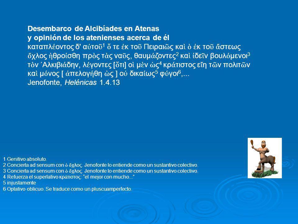 Desembarco de Alcibíades en Atenas