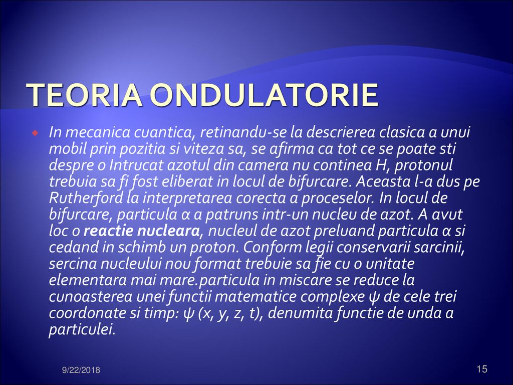 TEORIA ONDULATORIE