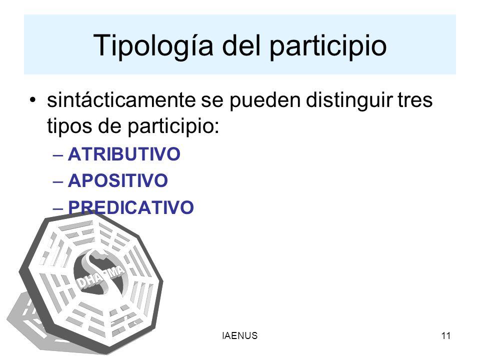 Tipología del participio