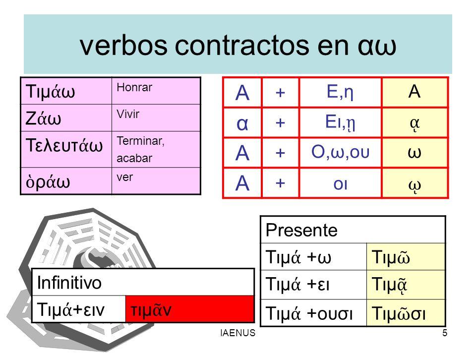 verbos contractos en αω