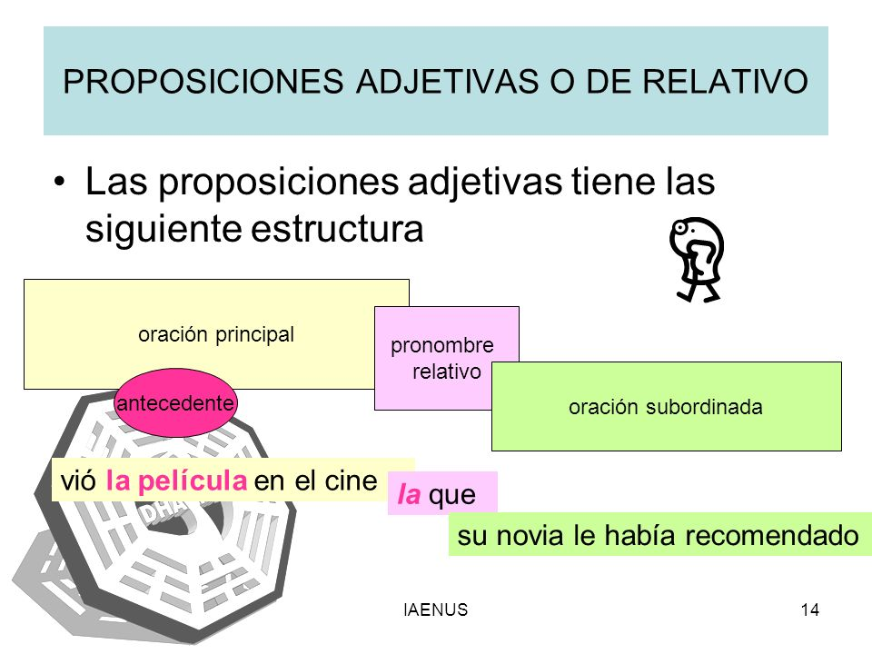 PROPOSICIONES ADJETIVAS O DE RELATIVO