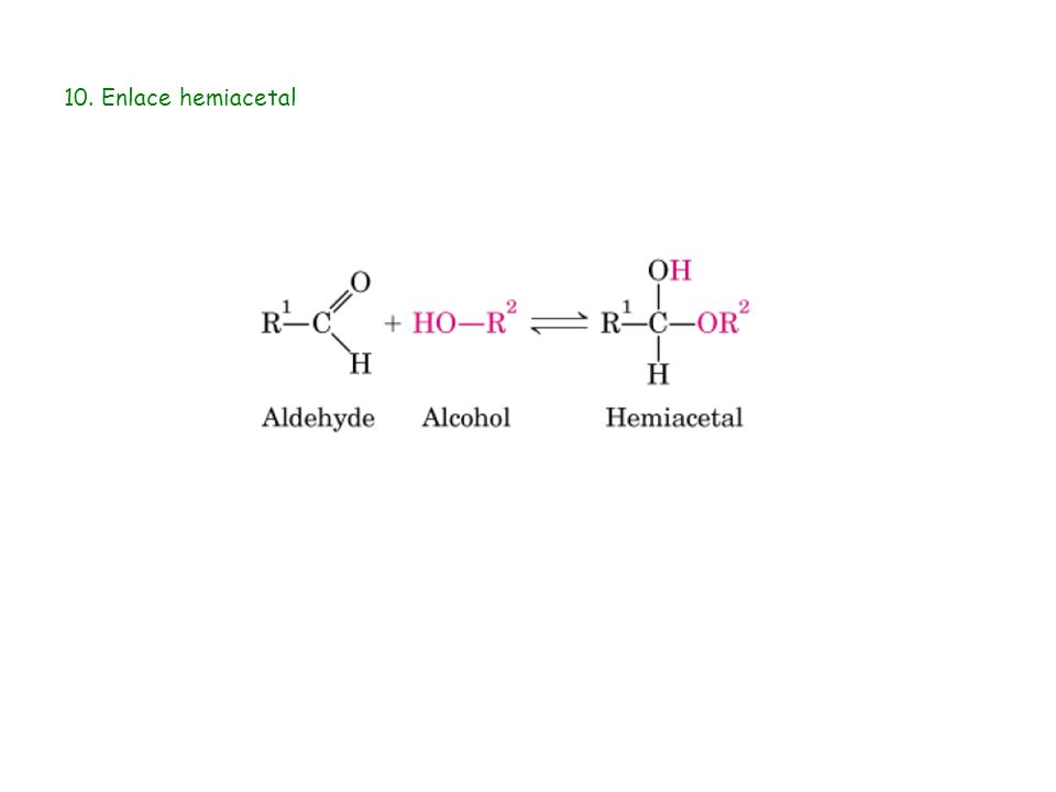 10. Enlace hemiacetal