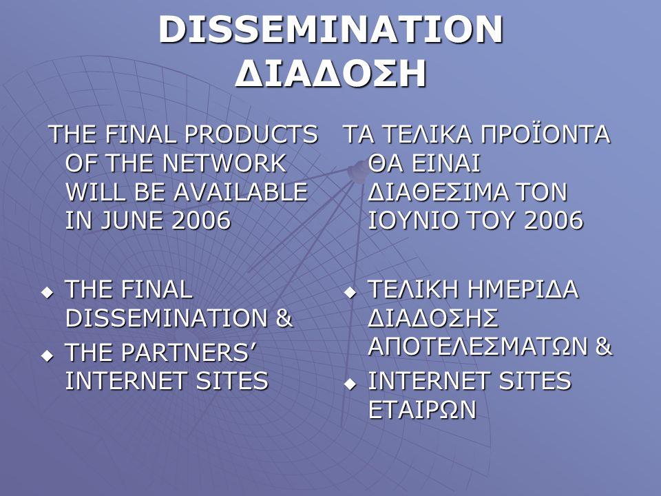 DISSEMINATION ΔΙΑΔΟΣΗ