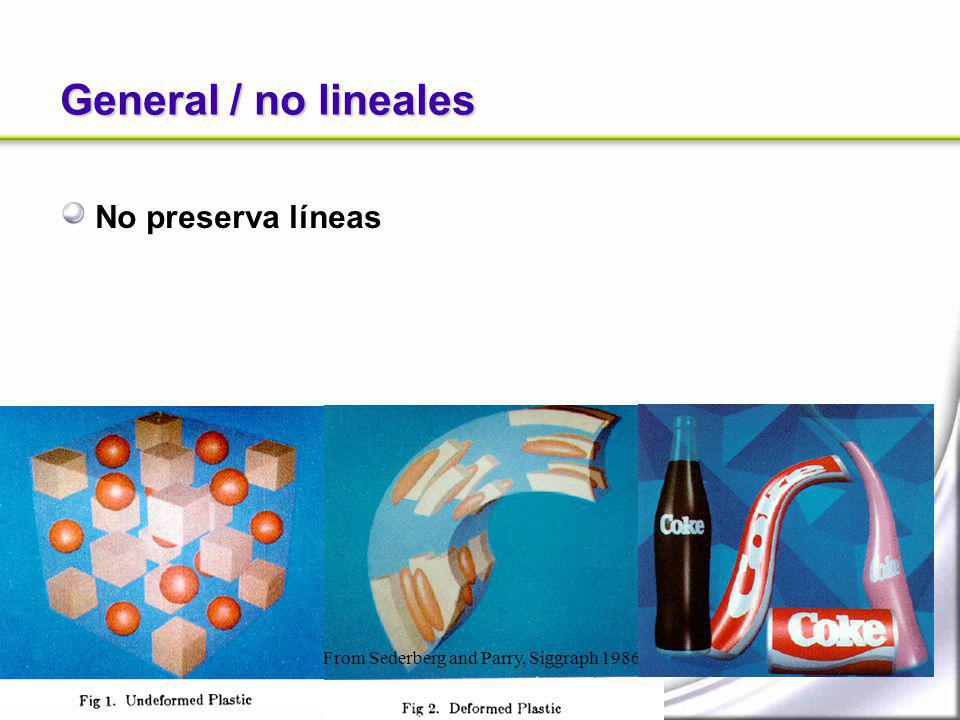 General / no lineales No preserva líneas
