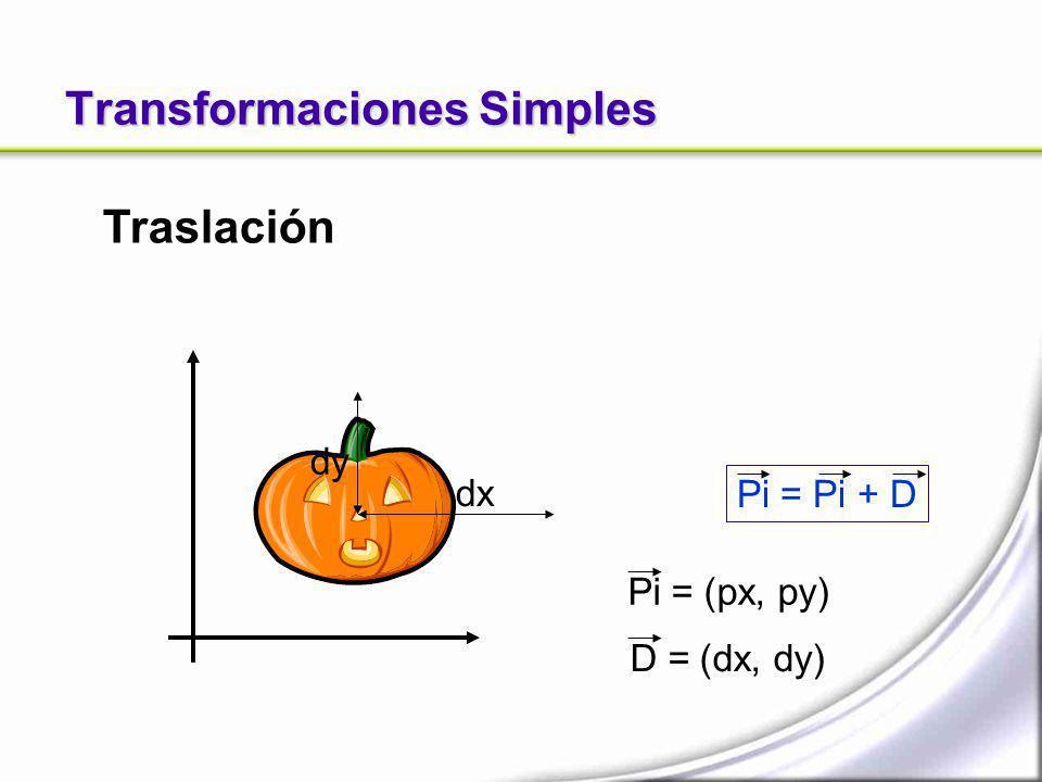 Transformaciones Simples