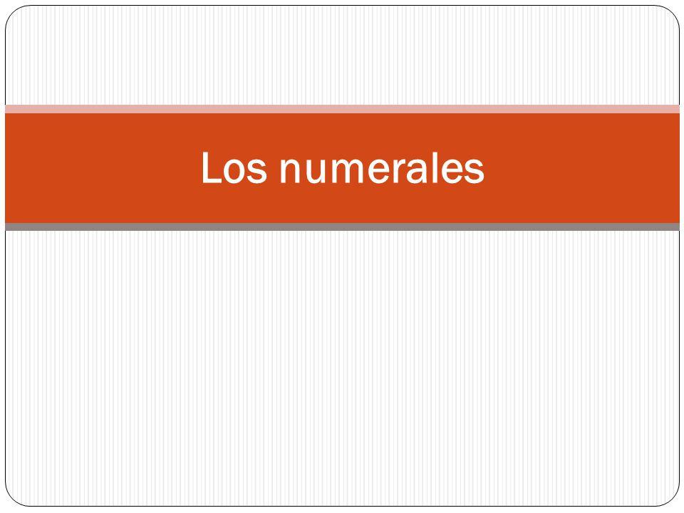 Los numerales