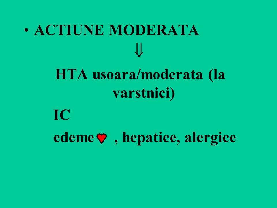 HTA usoara/moderata (la varstnici)
