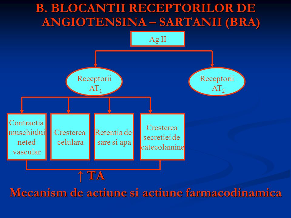 B. BLOCANTII RECEPTORILOR DE ANGIOTENSINA – SARTANII (BRA)