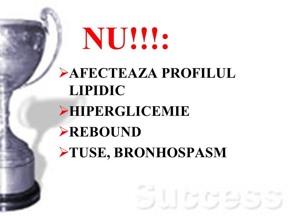 NU!!!: AFECTEAZA PROFILUL LIPIDIC HIPERGLICEMIE REBOUND