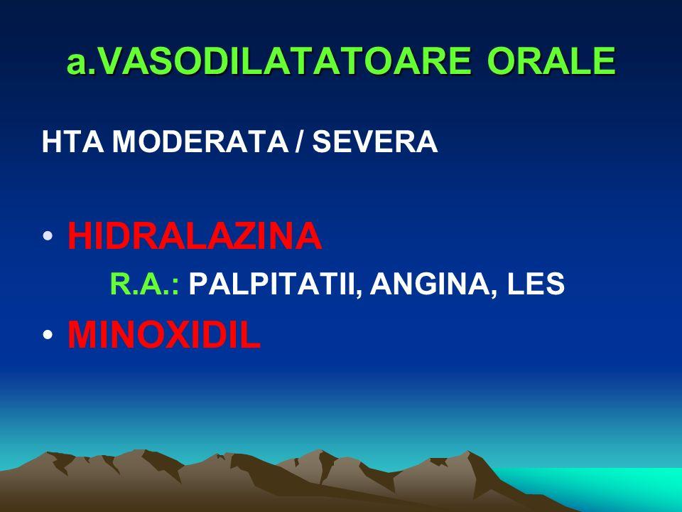 a.VASODILATATOARE ORALE