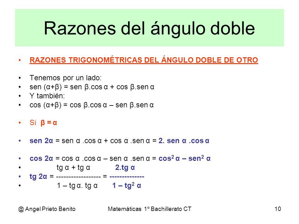 Razones del ángulo doble