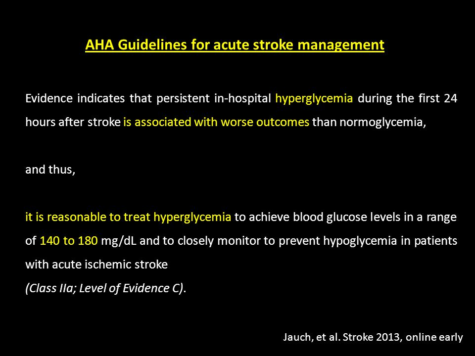 AHA Guidelines for acute stroke management
