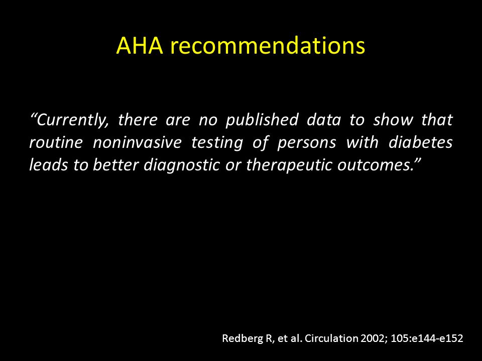 AHA recommendations