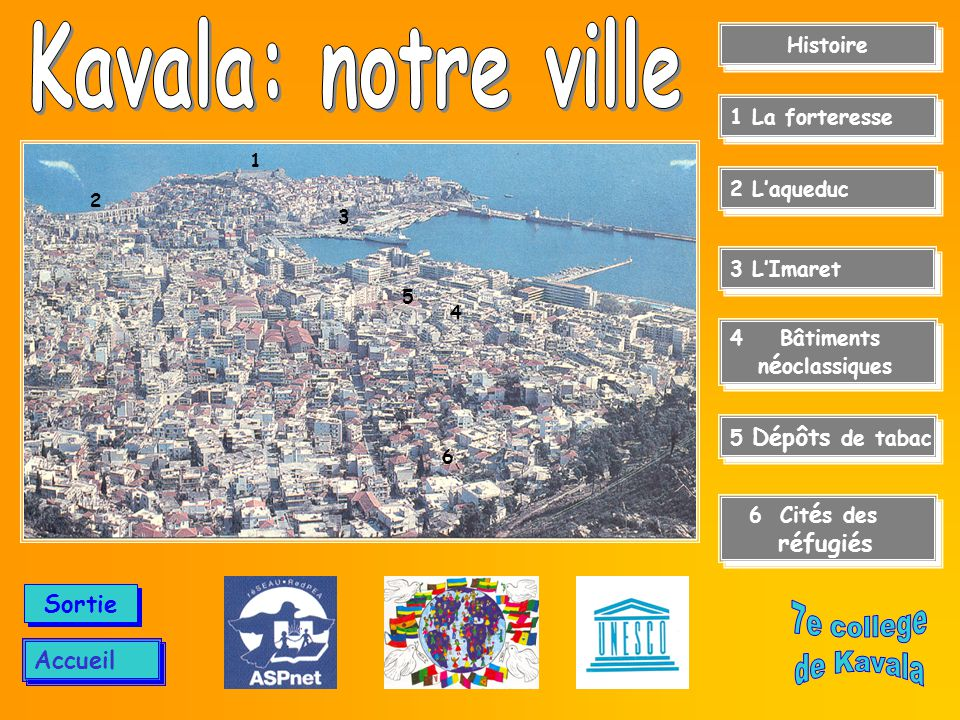 Kavala: notre ville 7e college de Kavala Sortie Accueil Histoire