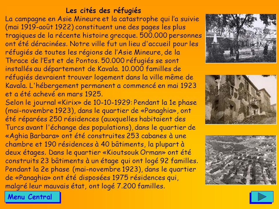 Les cités des réfugiés