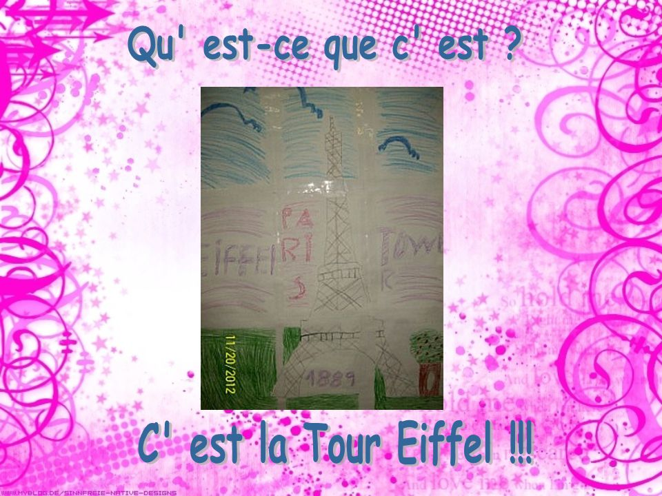 Qu est-ce que c est C est la Tour Eiffel !!!