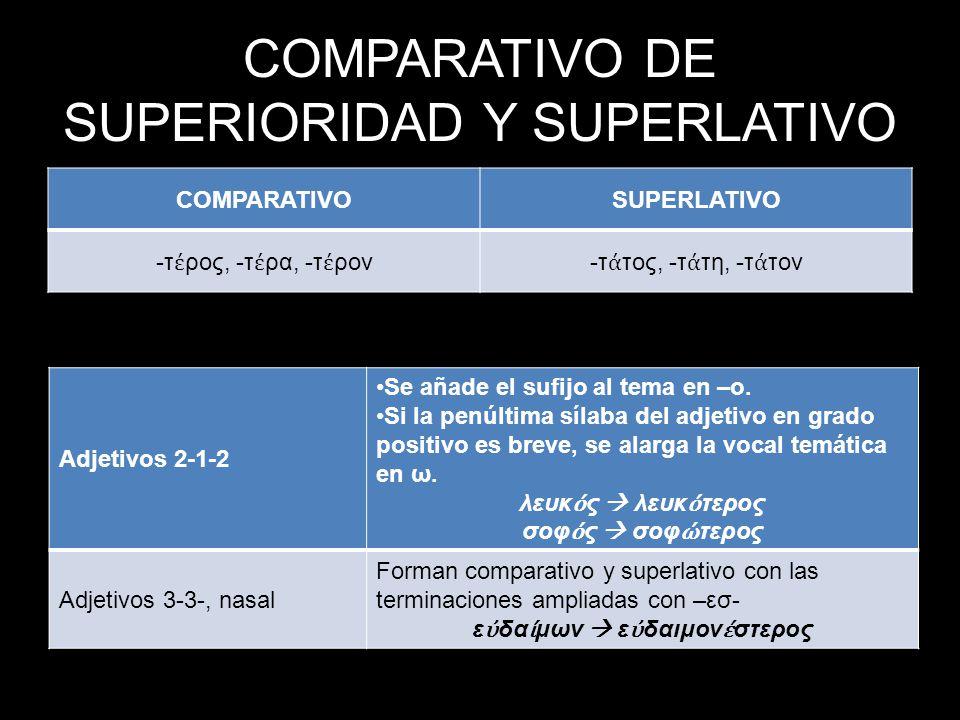 COMPARATIVO DE SUPERIORIDAD Y SUPERLATIVO