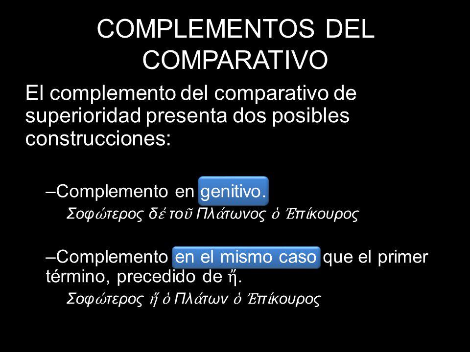 COMPLEMENTOS DEL COMPARATIVO